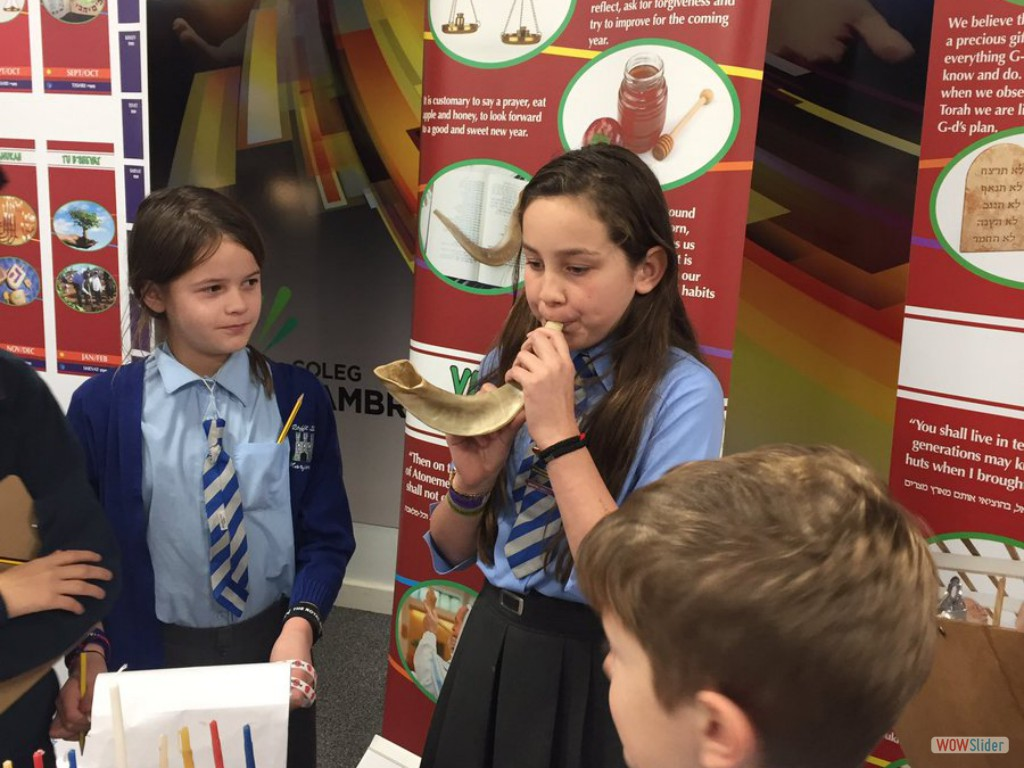Upper Juniors visited the Living Judaism Exhibition at Coleg Cambria